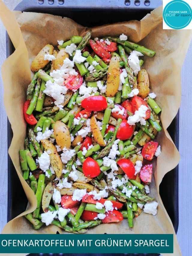 Bild zum Rezept Ofenkartoffeln mit grünem Spargel